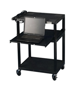 Apollo Multimedia Projector Cart, 35in.H x 24in.W x 18in.D, Black