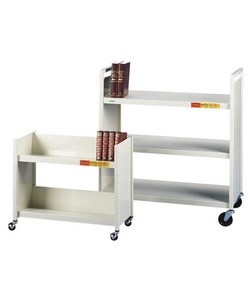 Bretford Mobile Book Truck, 3 Flat Shelves