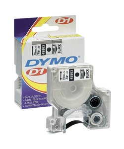 DYMO 45018 Yellow Tape with Black Printing, 1/2 x 23', D1 Style Cartridge