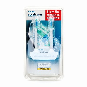 Sonicare E-Series Brush Heads for Elite & Essence Series (Standard, 2 Brush Heads) (#HX7002)