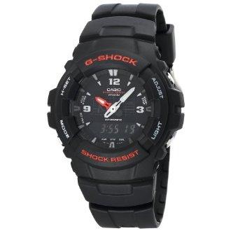 Casio Black Resin Ana-Digi G-Shock Watch G100-1BV