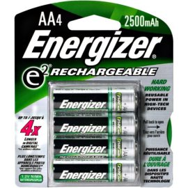 Energizer NH15BP-4 ACCU Rechargeable AA Batteries,