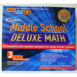 MATHSOFT MATHSOFT Study Works Middle School Math Deluxe