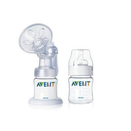 Avent ISIS Breast Pump with 2 Reusable Bottles (4oz)