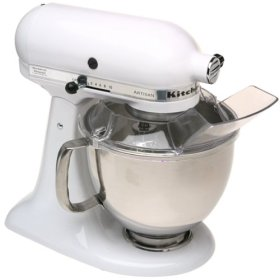 KitchenAid KSM150PSWH Artisan Series Stand Mixer (White)