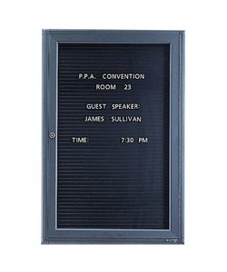 Graphite Frame 1-Door 4' X 3' Magnetic Message Board