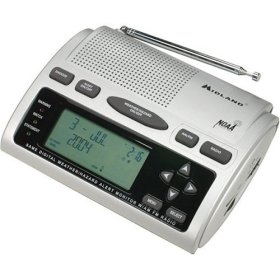 Midland WR-300 AM/FM, Weather, All Hazards, Civil Emergency Alert Monitor with S.A.M.E.