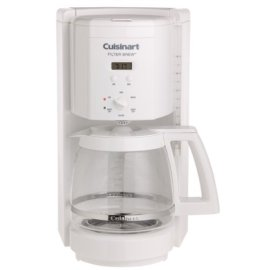 Cuisinart DCC1000 Programmable Filter Brew 12-Cup Coffeemaker, White