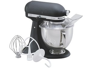 KitchenAid KSM150PS Artisan 5-Quart Stand Mixer (Caviar Black)