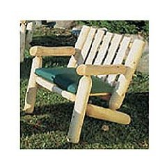 Cedar Log Armchair