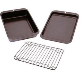 Nordic Ware 3-Piece Toaster Oven Grill and Bake Set