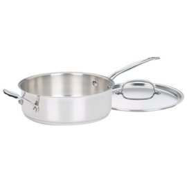 Cuisinart Chef's Classic Stainless 3-1/2-Quart Sauté Pan with Helper Handle & Cover