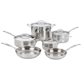 Cuisinart Chef's Classic Stainless 10-Piece Cookware Set #77-10