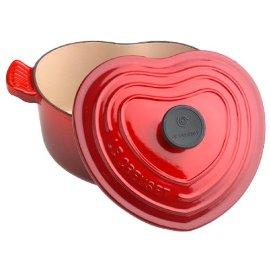 Le Creuset 2-Quart Heart Casserole, Cherry Red