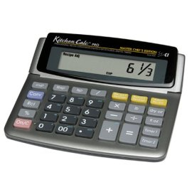 KichenCalc 8305 PRO Master Chef Edition Recipe Conversion Calculator with Dual Digital Timer