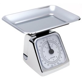 Salter 074 22-Pound Extra High Capacity Mechanical Kitchen Scale with Tray, Chrome