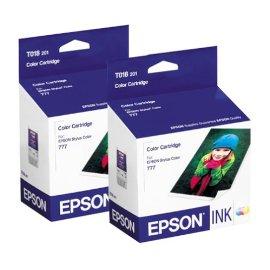 Epson T018201 Color InkJet Cartridge, 2 pack