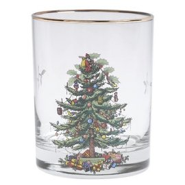 Spode Christmas Tree Double Old Fashioned Glasses, Set of 4