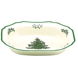 Spode Christmas Tree Open Vegetable Dish