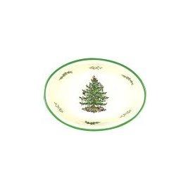 Spode Christmas Tree Oval Rim Dish