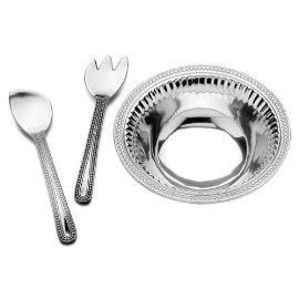 Wilton Armetale Flutes and Pearls 3-Piece Salad Set
