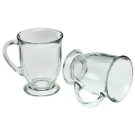 Anchor Hocking 6-Piece 16-ounce Crystal Cafe Mug Set