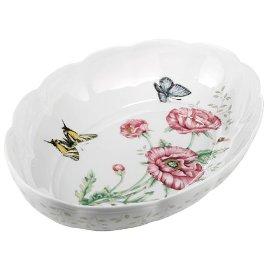 Lenox Butterfly Meadow Fine Porcelain Oval Baker