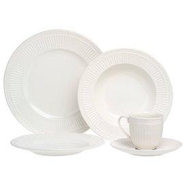 Mikasa Italian Countryside 5-Piece White Stoneware Place Setting, Service for 1
