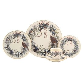 Lenox Winter Greetings 5-Piece Gold-Banded Fine China Placesetting