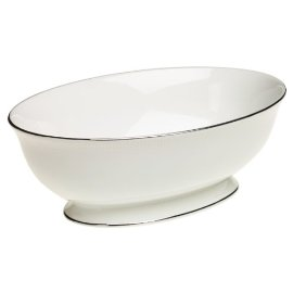 Lenox Tribeca Platinum-banded Bone China Open Vegetable Bowl
