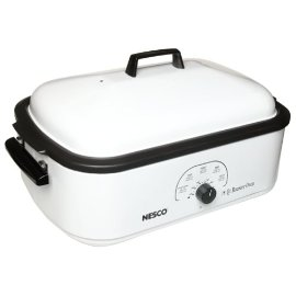 Nesco 4808-14-30 18-Quart Roaster Oven with Nonstick Cookwell, White