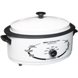 Nesco 4816-14-30 6-Quart Roaster Oven with Nonstick Cookwell, White
