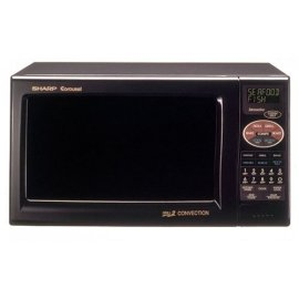 Sharp R-820Bk 0.9 Cubic Foot 900 Watts Convection Microwave, Black