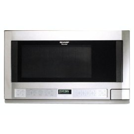 Sharp R-1214 1100-Watt 1.5 Cubic Foot Over-the-Counter Microwave, Stainless