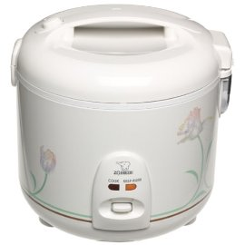 Zojirushi NSRNC-18A Automatic Rice Cooker and Warmer with Floral Imprint