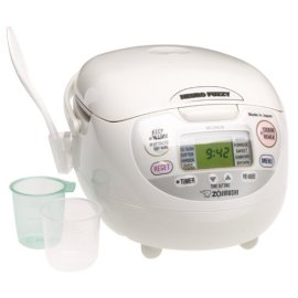 Zojirushi NS-ZCC10 5-1/2-Cup Neuro Fuzzy Rice Cooker and Warmer