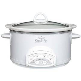 Rival 38501-W Round 5-Quart Smart-Pot Crock-Pot, White