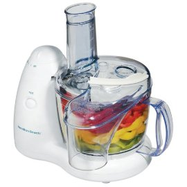 Hamilton Beach 70550RL PrepStar Food Processor with Bonus Chill Lid - White