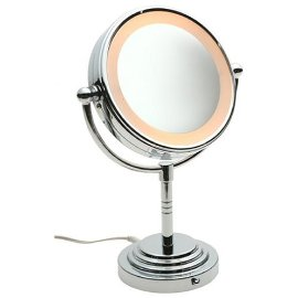 conair be4r classique double sided lighted makeup mirror with 5x. Black Bedroom Furniture Sets. Home Design Ideas