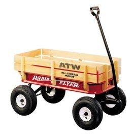 Radio Flyer All-Terrain Steel and Wooden Wagon