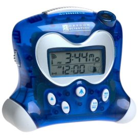 Oregon Scientific RM313PA/B ExactSet Fixed Projection Alarm Clock - Blue