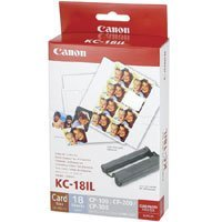 Canon KC-18IL Color Ink and Label Set