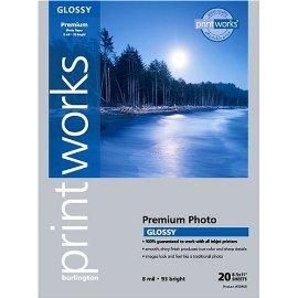 Burlington Photo Glossy Heavyweight  Ink Jet Paper 8 1/2 x 11