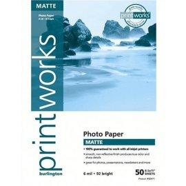 Burlington Photo Matte Heavyweight  Ink Jet Paper 8 1/2 x 11