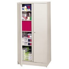 "HON(R) Easy-To-Assemble Adjustable-Shelf Storage Cabinet, 4 Shelves, 72""H x 36""W x 18""D, Putty"