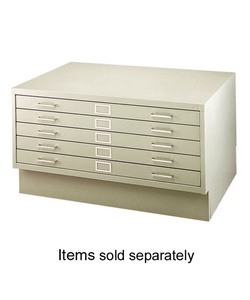 "Safco(R) 5-Drawer Flat File, 40 3/8""W x 29 3/8""D External, 37""W x 26""D Internal"