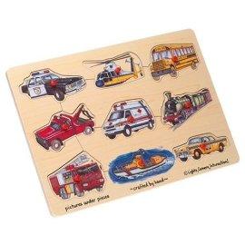 Transportation 9-piece Peg Puzzle