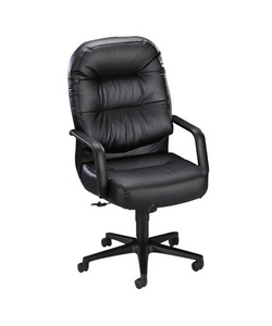 HON(R) Pillow Soft Leather Executive Chair, Black