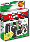 Fujifilm Quicksnap-Flash400/2 Disposable 35Mm Camera With Flash 2 Pack
