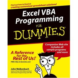 Excel VBA Programming For Dummies<sup>®</sup> (For Dummies (Computer/Tech))
